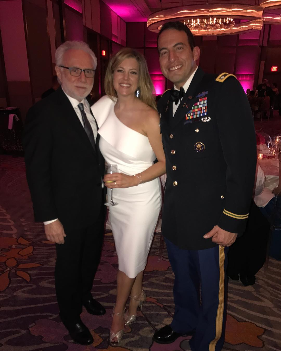 From the left : Wolf Blitzer, Brianna Keilar and Fernando Lujan