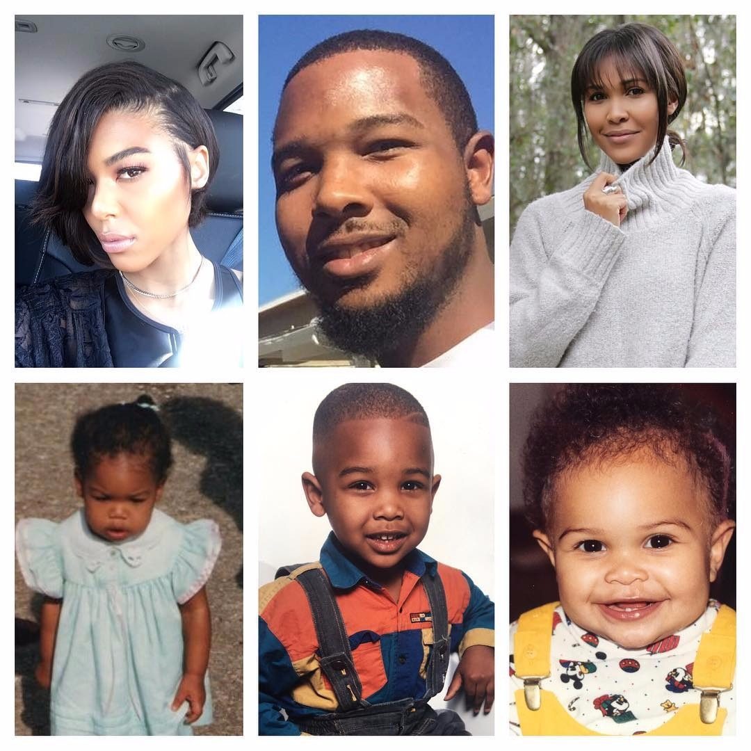 Moniece Slaughter collage with her brother and sister