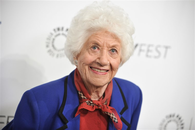 Charlotte Rae attends an event wearing a pleasant smile on her face