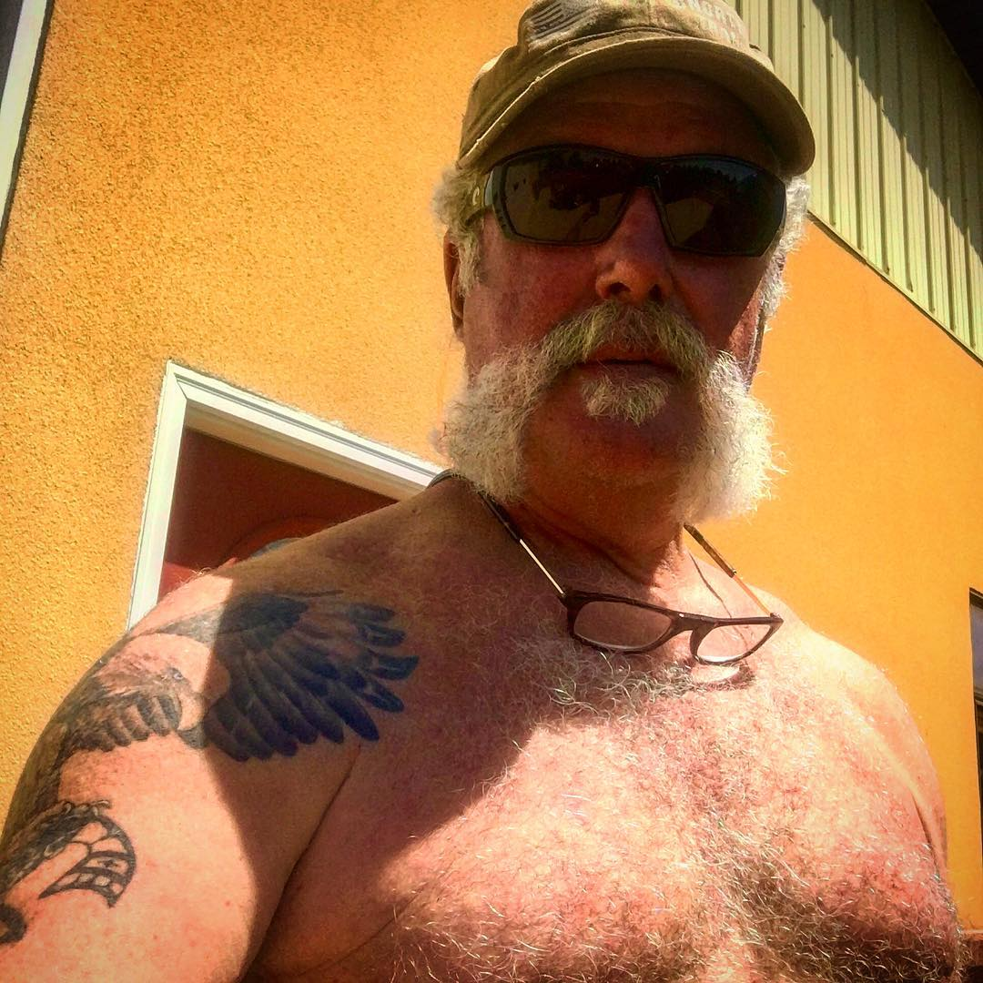 Marc Springer is shirtless