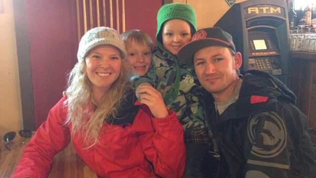 Elliott Neese with his family