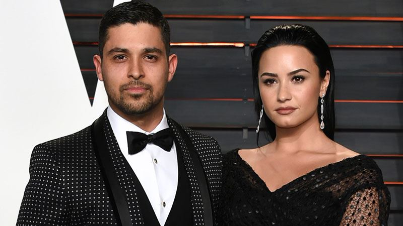Demi Lovato and her then-boyfriend, Wilmer Valderrama arrives at the 2016 Vanity Fair Oscar Party on February 28, 2016