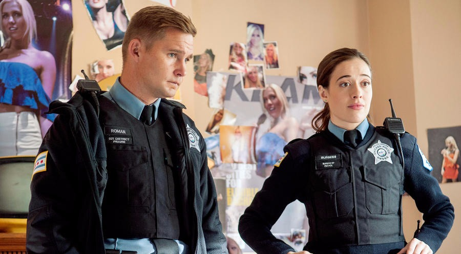 Marina Squercaiti and Brian Geraghty on Chicago P.D.