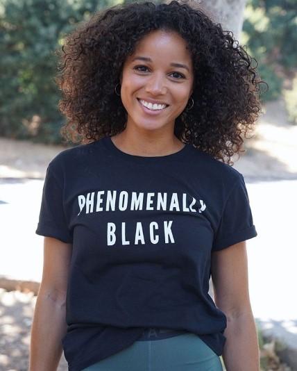 Actress Alisha Wainwright celebrating Black Women's Equal Pay Day on August 22, 2019