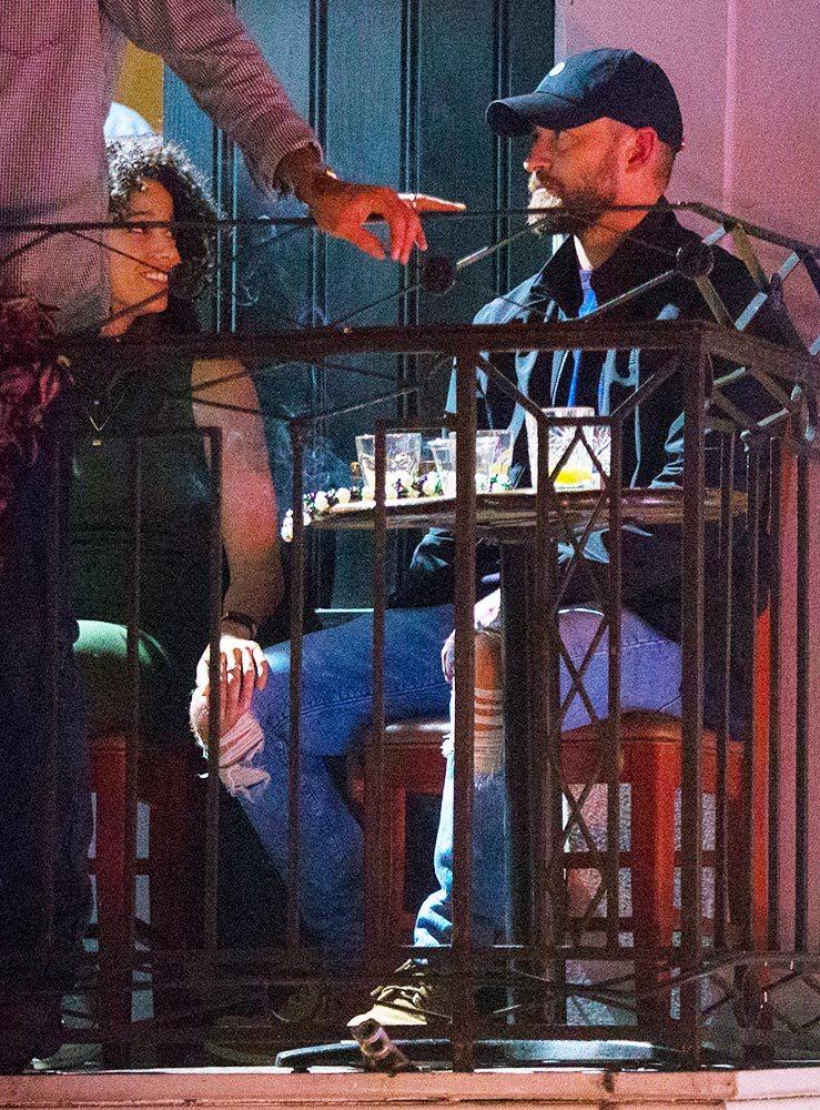 Actress Alisha Wainwright with Singer Justin Timberlake
