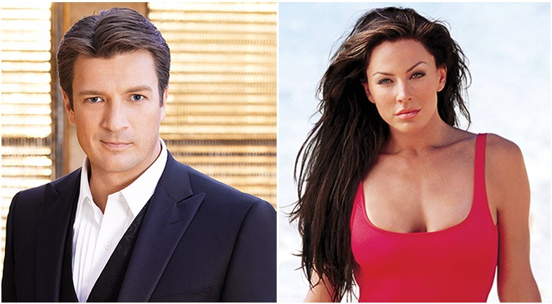 Actor Nathan Fillion on the left and actress Krista Allen on the right. Nathan and Krista were reported to be dating sometime ago.