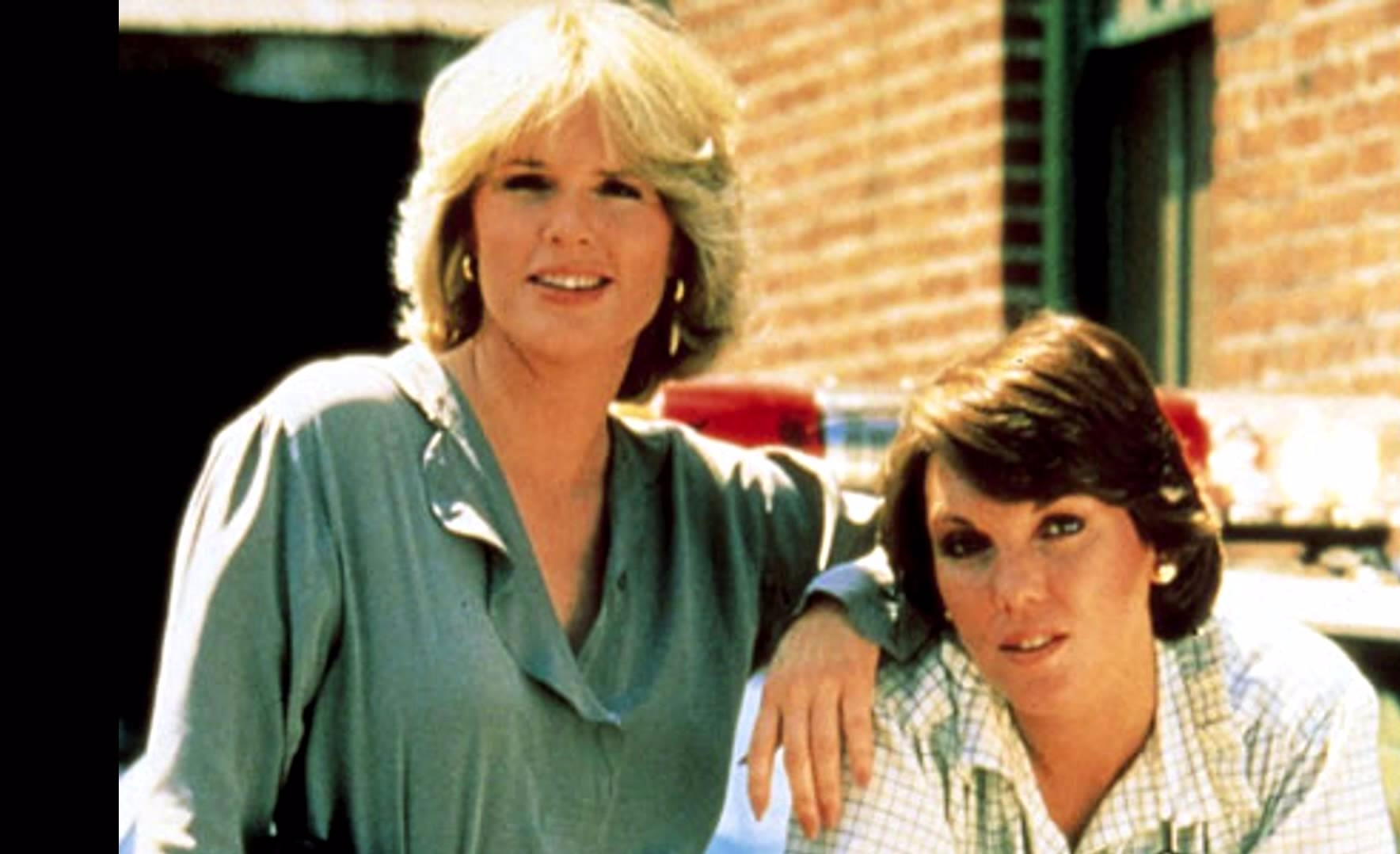 Sharon Gless's (left) old picture with co-actress Tyne Daly as Det. Mary Lacey from popular series Cagney and Lacey.