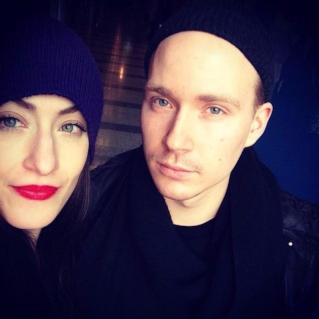Sandra Mittica and her former boyfriend Ville Valo taking a selfie.