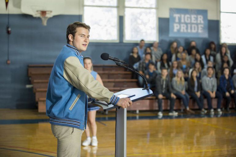 Justin Prentice as Bryce Walker on the set of 13 Reasons Why