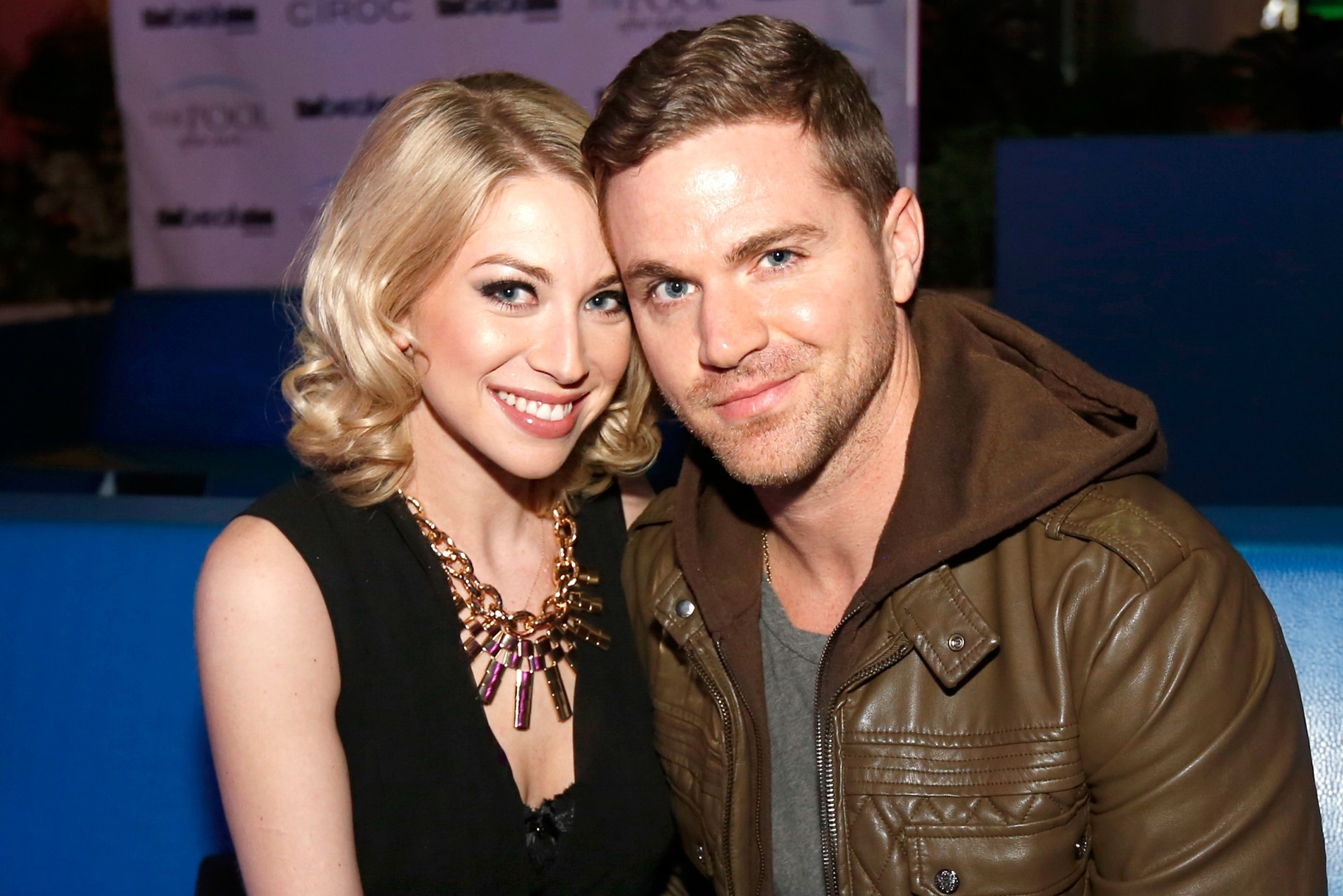 Stassi Schroeder and Patrick Meagher, a picture-perfect couple. They both look happy together.