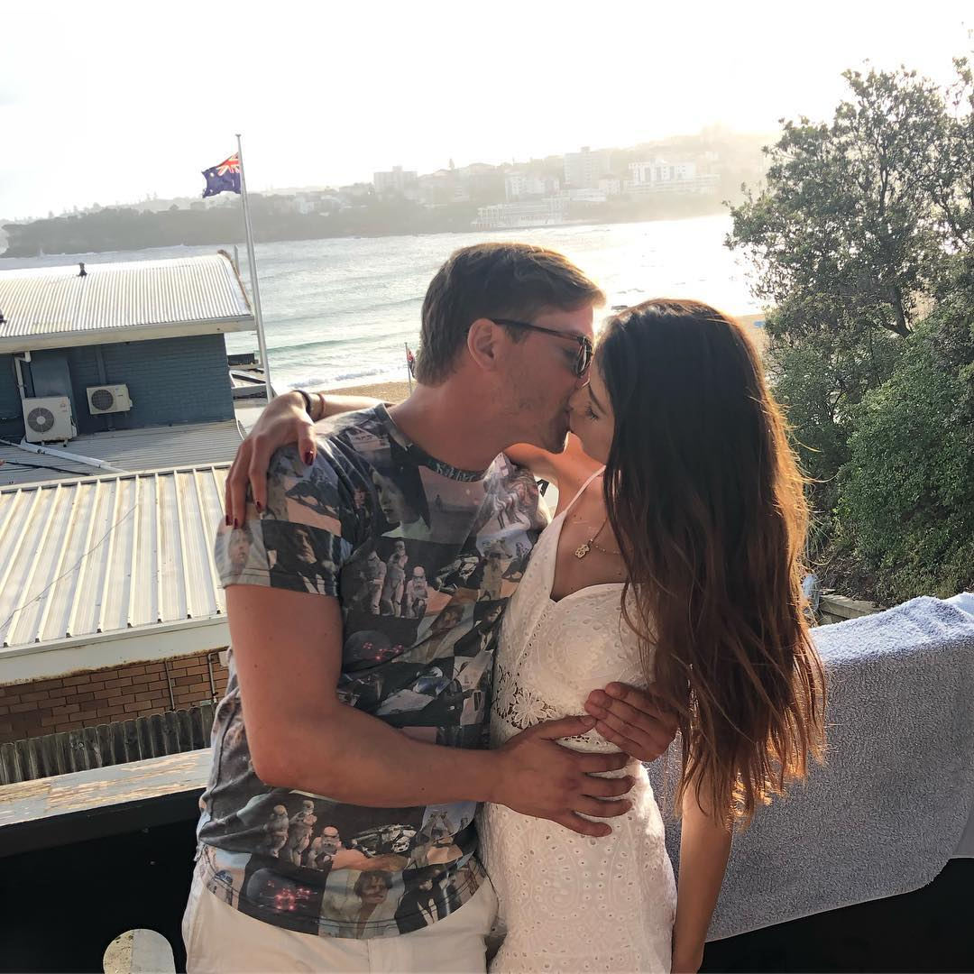 Daniel and Nadia Kissing