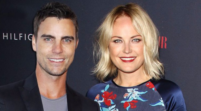 Colin Egglesfield with his girlfriend Malin Akerman.