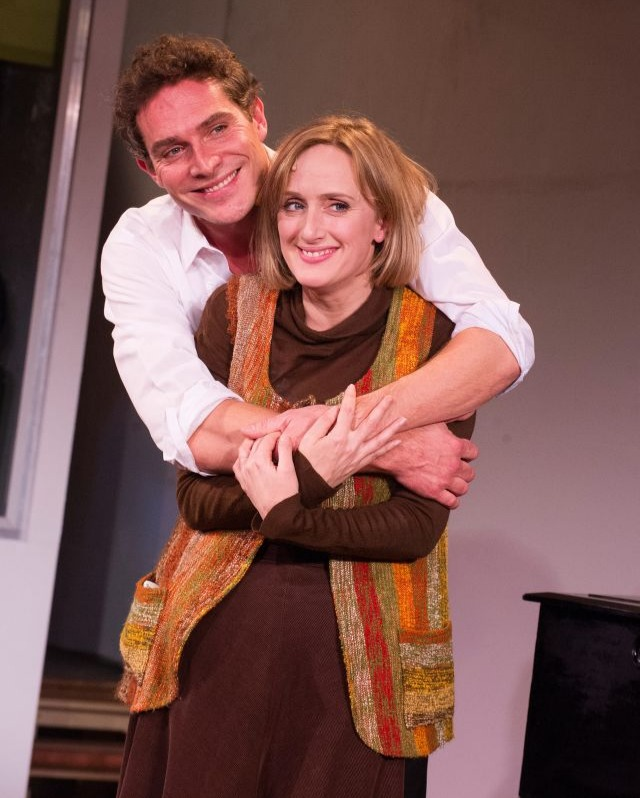 Mark and Jenna Russell, his on screen partner from Merrily We Roll Along.