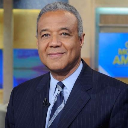 Ron Claiborne on the set of Good Morning America.