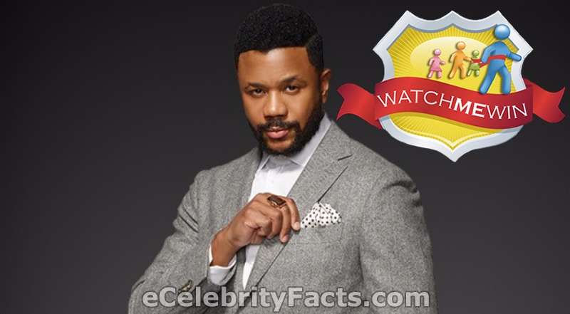 Hosea Chanchez is trying to reach the handkerchief in his coat pocket. He is wearing a ring with a big brown stone in his mid-finger. He was married to Tika Sumpter in the past.
