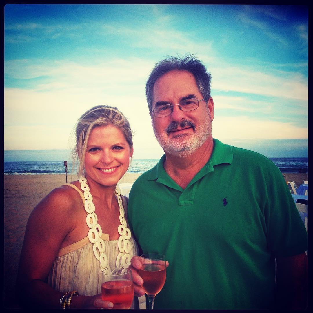 Kate Bolduan drinking with her father, Jeffrey Bolduan