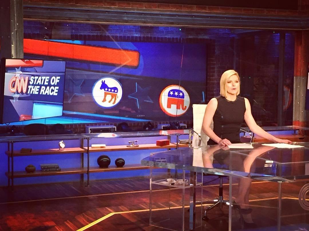 Kate Bolduan, 'State of America' anchor, at work.