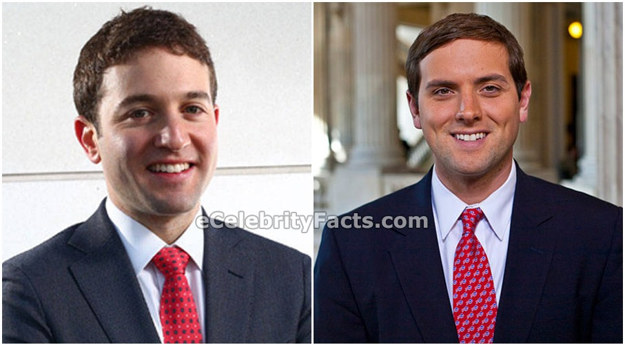 Luke Russert on the right side of the photo and Jake Sherman on the left side