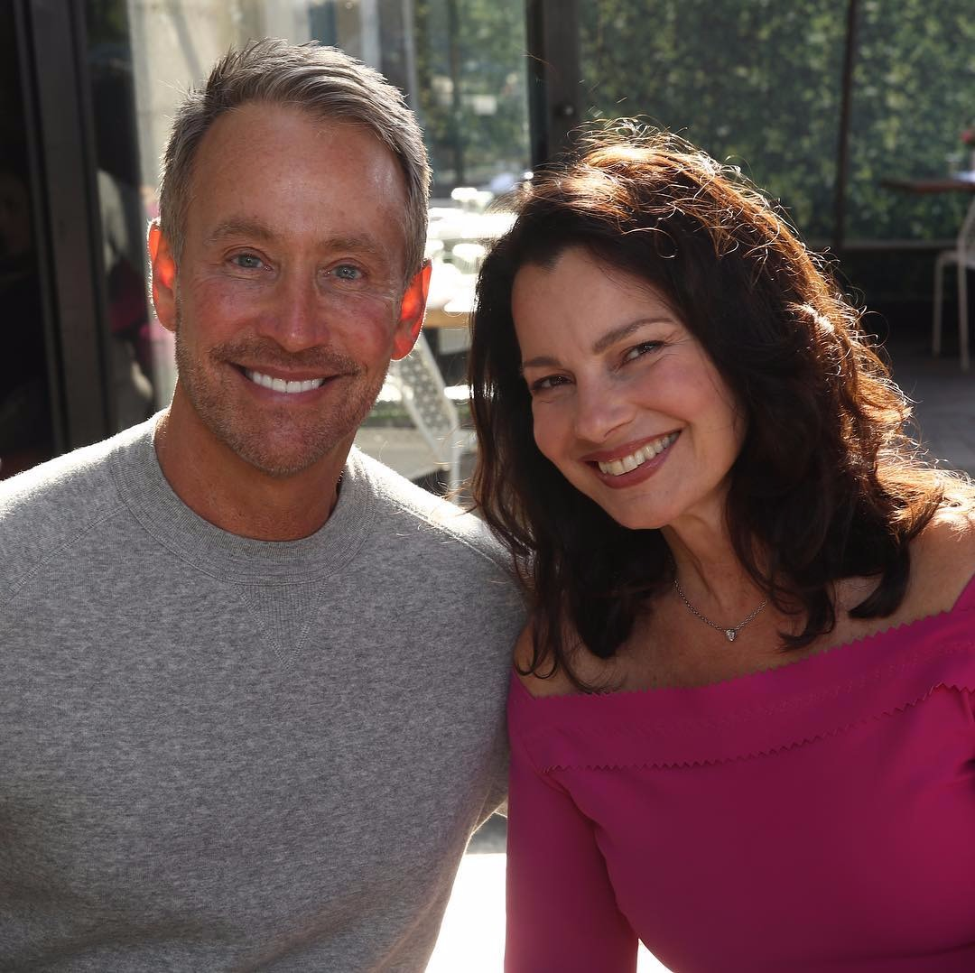 Fran Drescher with her ex-husband who is one of her best-friend as of now.