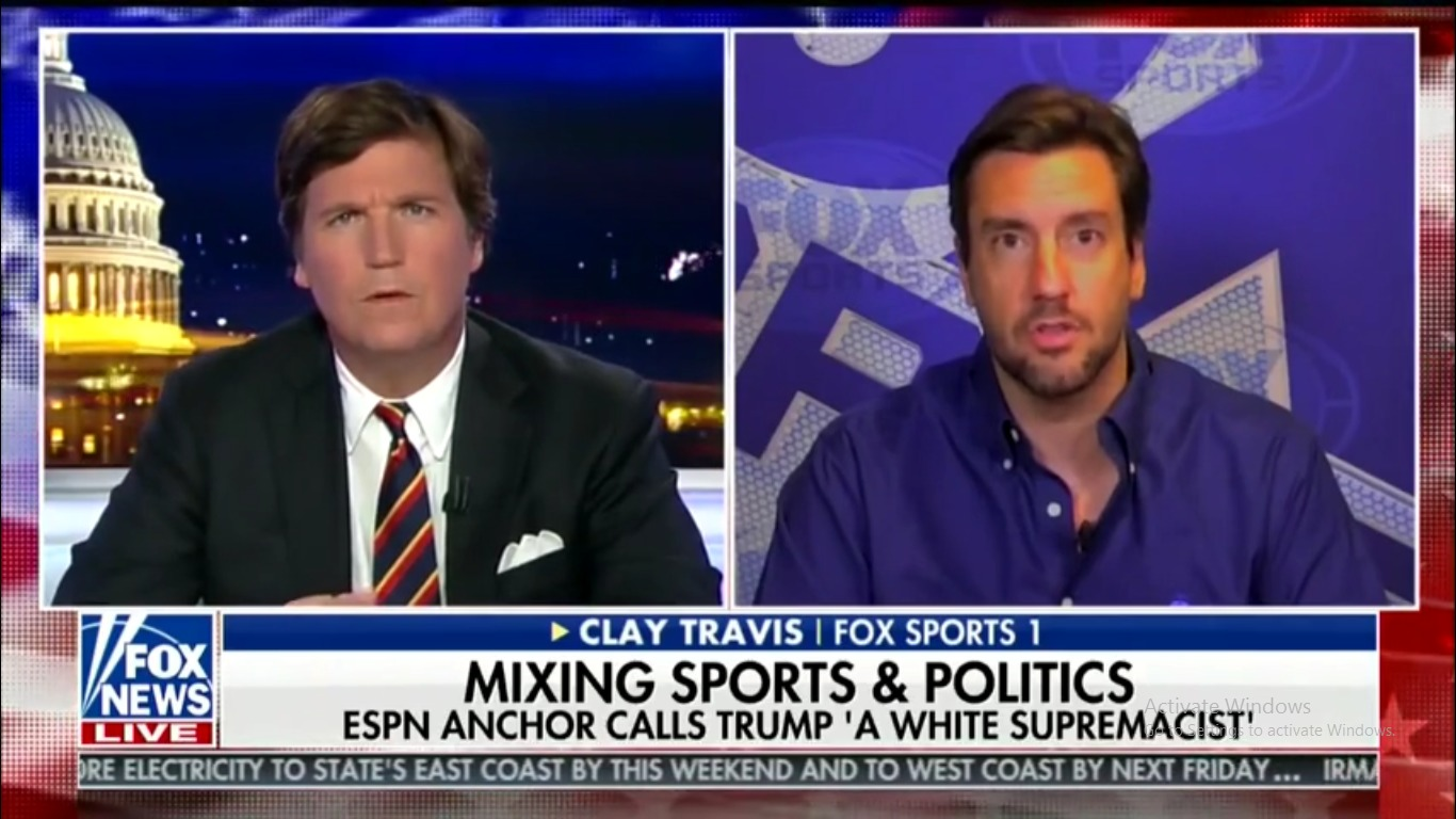Tucker Carlson with Clay Travis