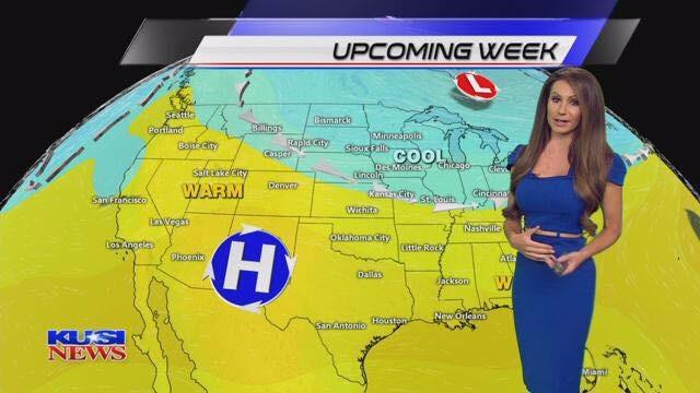 Sabrina Fein forecasting weather updates at KUSI News