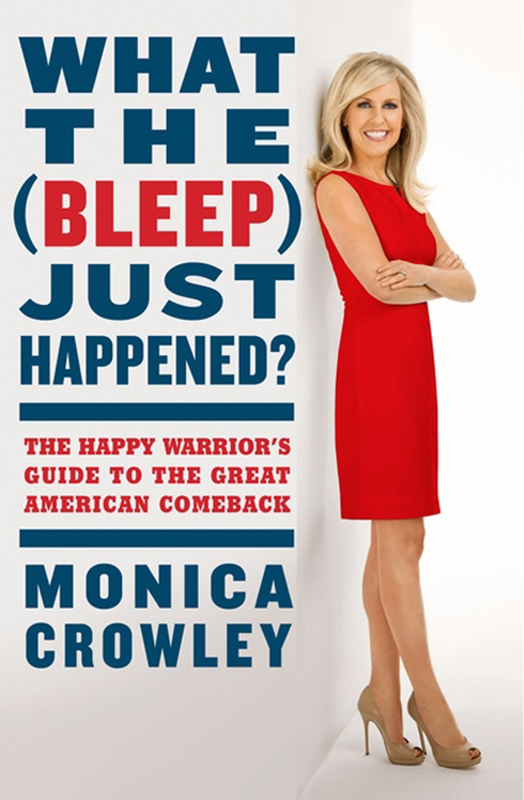 Monica Crowley features herself in the book cover of What The Bleep Just Happened