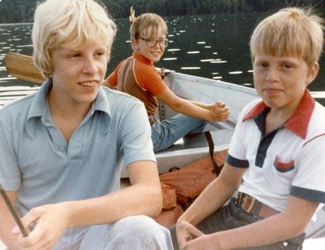 Sig Hansen with his two younger brother