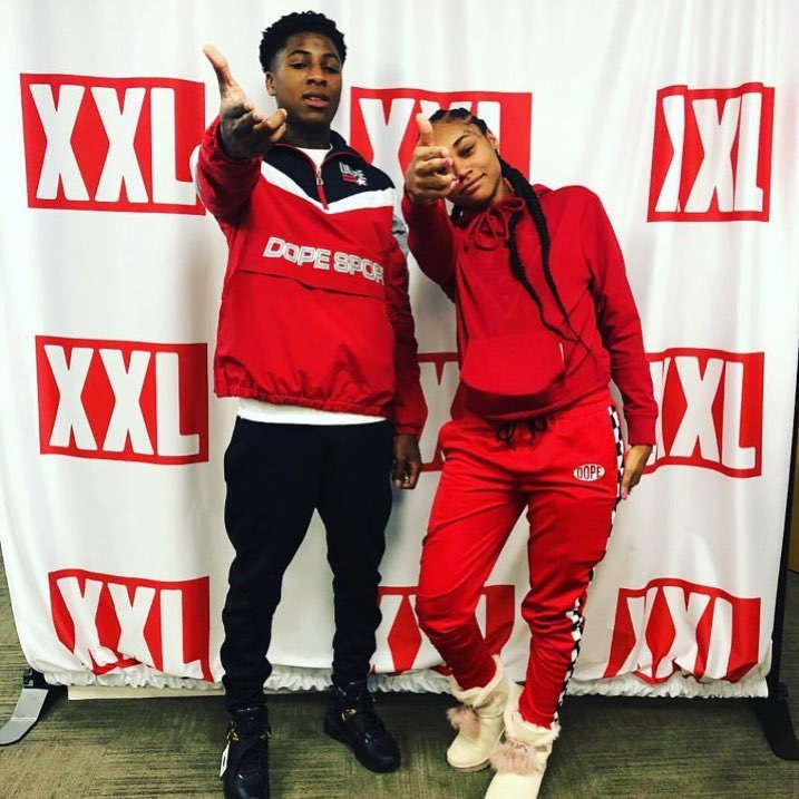 Jania Jackson and NBA YoungBoy are seen together