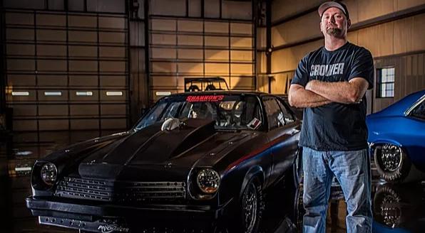 Shane McAlary with his car Black Bird