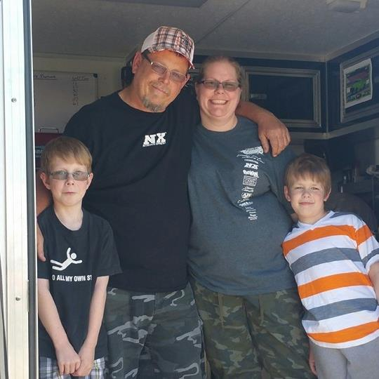 Ron Gibbany is with his wife Lori Gibbany and sons, Hunter and Dylan.