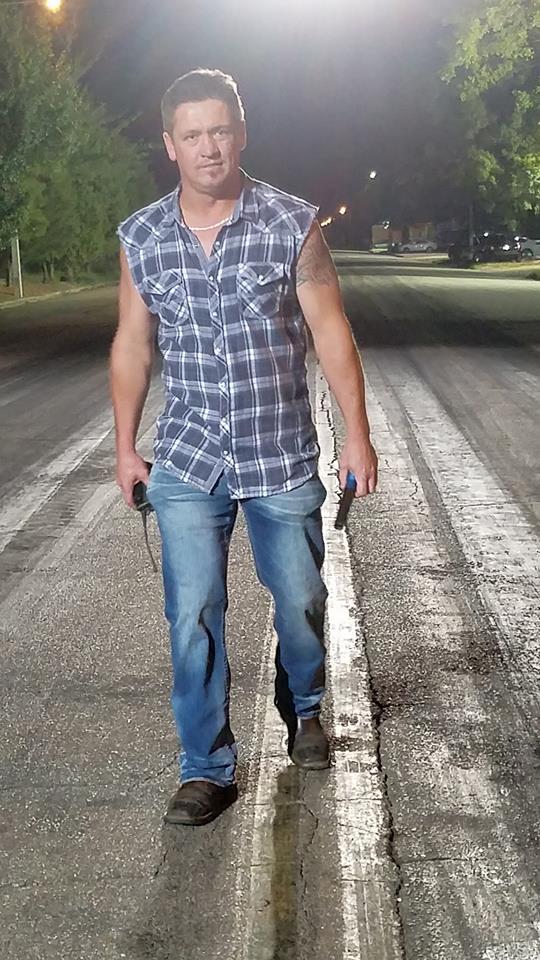 Jonathan Day aka Da Boss is wearing jeans pants.