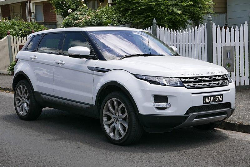 A polished white coloured Range Rover