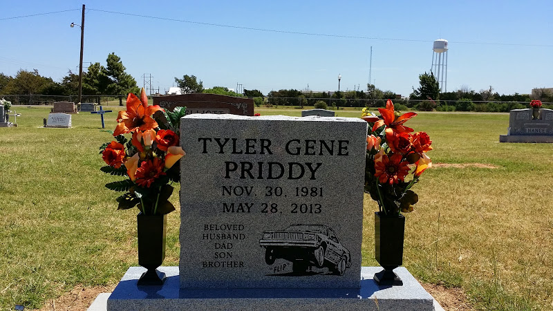 Tyler Gene Priddy's cemetery at Hilton, Caddo County, Oklahoma, USA