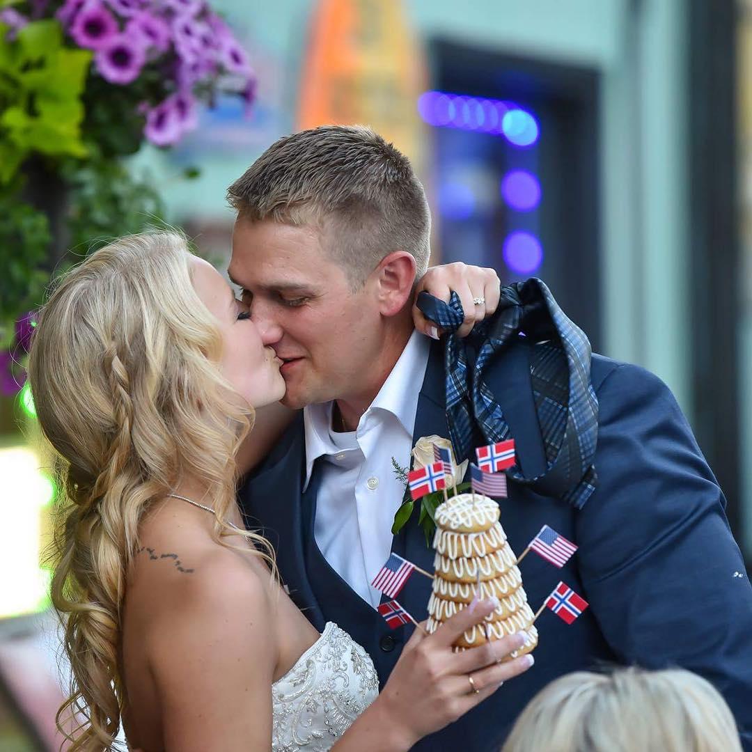 Mandy Hansen with her husband Clark Pederson