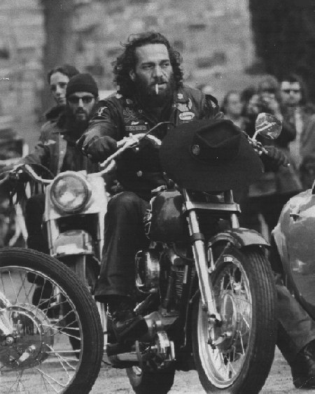 Sonny Barger in his early days riding bikes