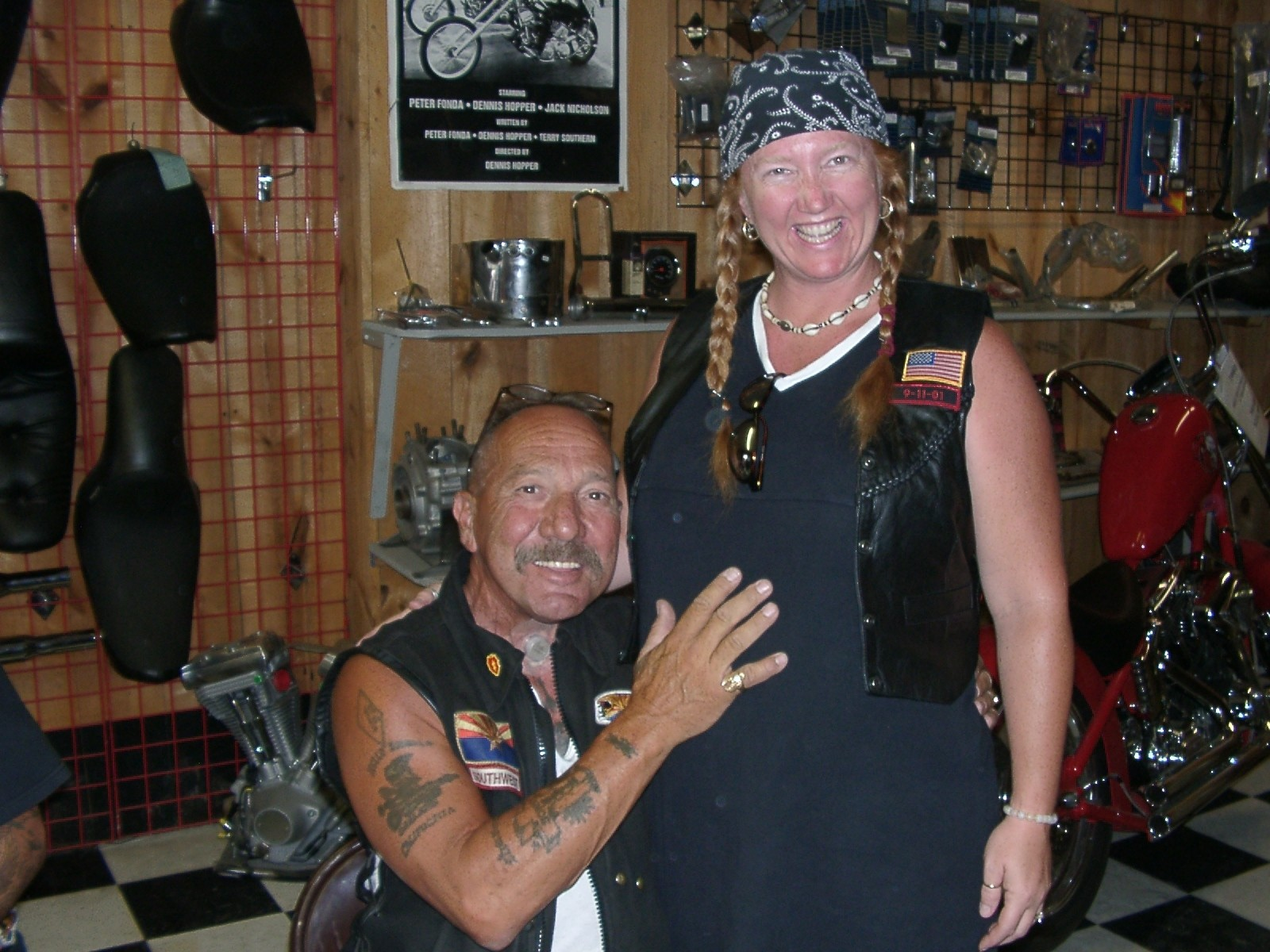 Sonny Barger with his wife Zorana Barger