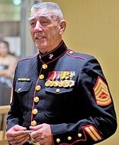 R. Lee Ermey in his military dress