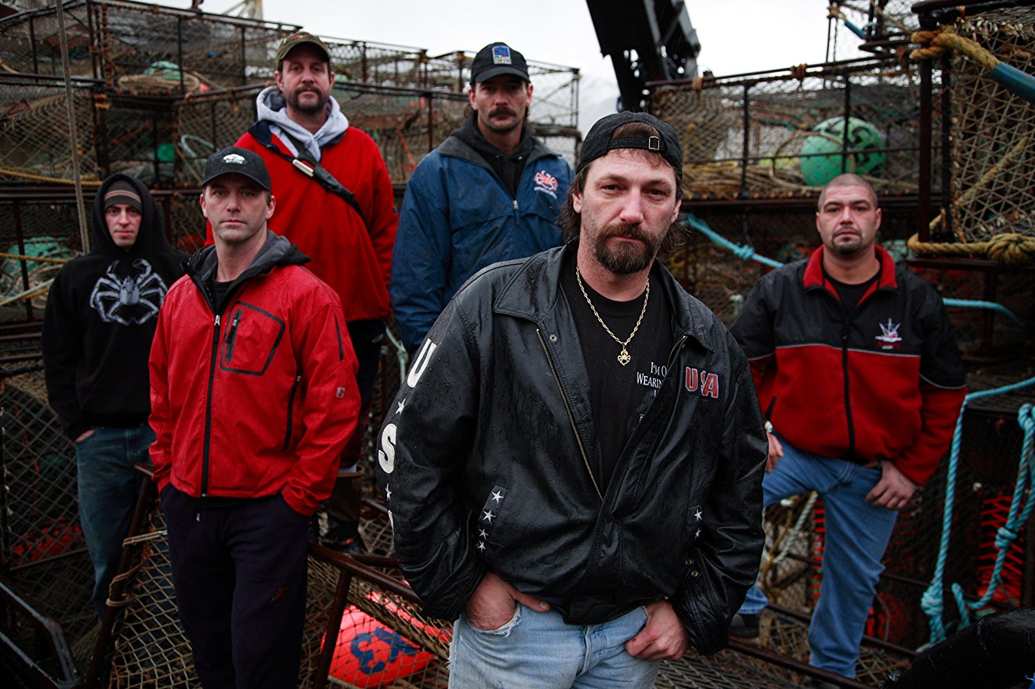 Neal Hillstrand poses with the Time Bandit crew.