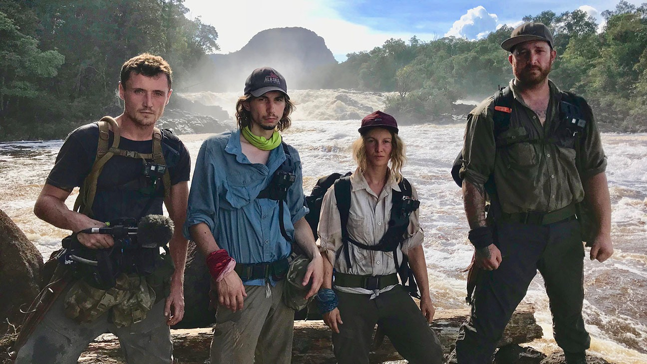 Karla Ann is standing among the cast members of Gold Rush: Parker's Trail