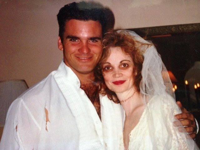 David Baker and Nancy MacKay Valentine are seen in halloween costume