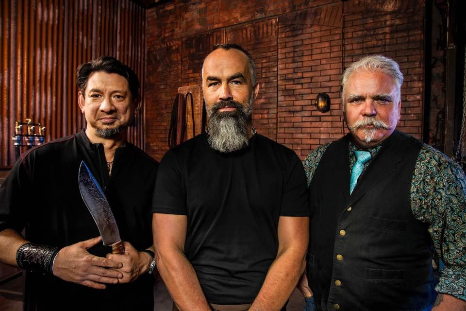 Jason Knight with other judges of Forged in Fire
