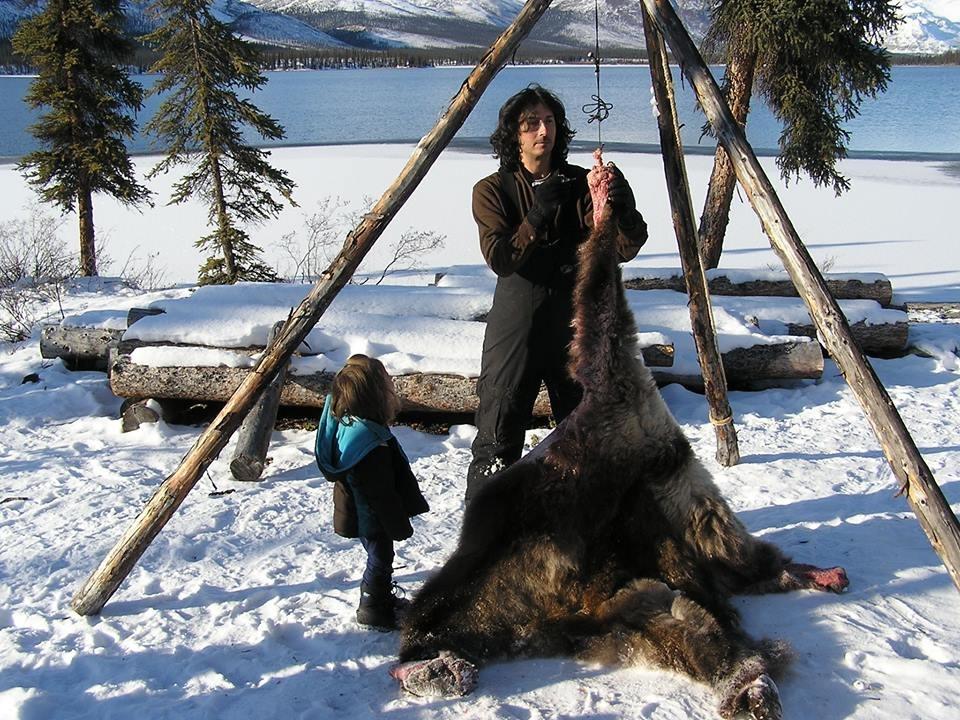 Glenn Villeneuve in his wilderness lifestyle