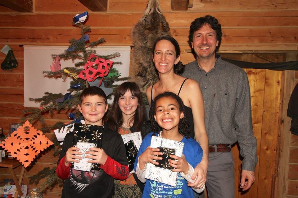 Glenn Villeneuve with his family