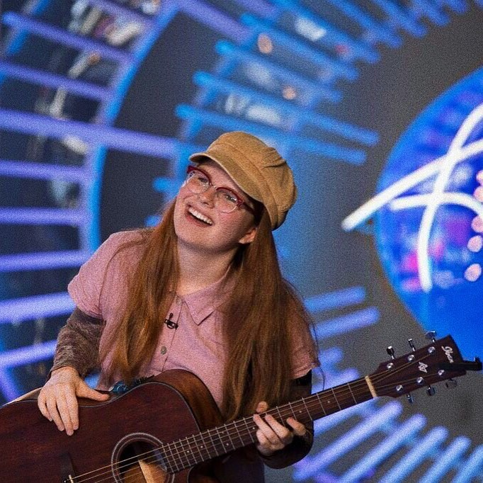 Catie Turner during her audition on American Idol
