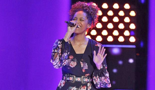 Spensha Baker singing in The Voice