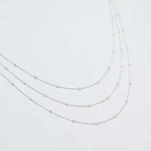 Triple Strand Satellite Chain Necklace