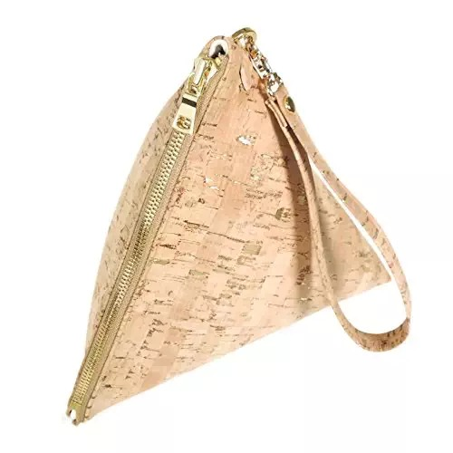 Large Vegan Triangle Clutch Purse
