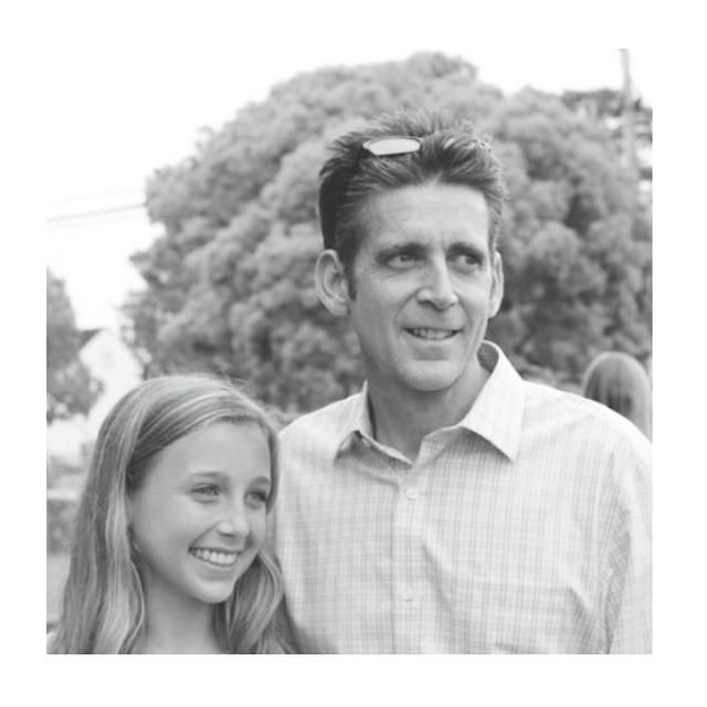 Emma Chamberlain with her father, Michael Chamberlain