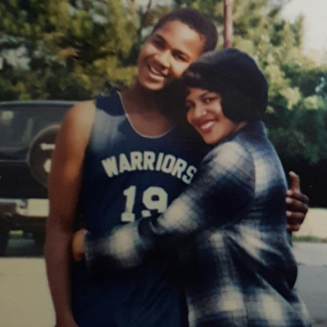 Young Van Lathan hugging his sister, Ebony Rage Lathan