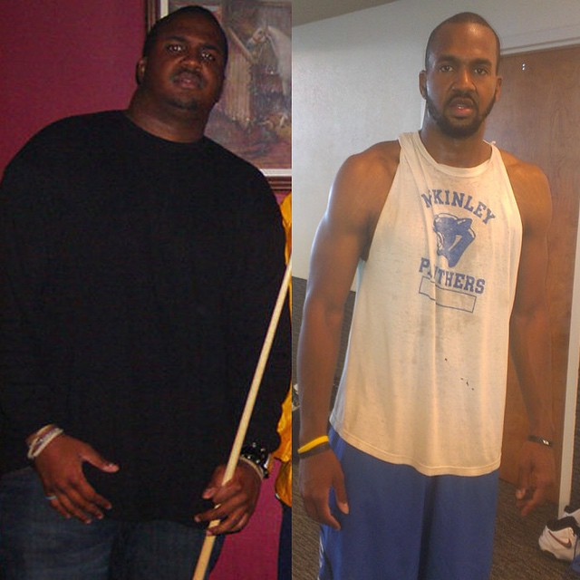 Van Lathan's before and after weight loss picture